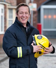 Tony Hirst enjoyed playing the hero in the Corrie fire scenes