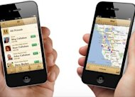 Aplikasi 'Find My Friends' di iPhone 4S