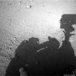 'Human Shadow' Visible In Mars Rover Photo