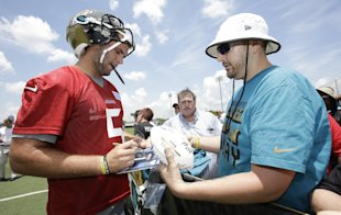 Blake Bortles, man of the people. (AP Photo/John Raoux)