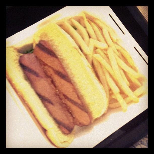 Betty White Yahoo! TV Instagram: Lunch! -Betty #bettywhite #hotlive #hotincleveland #tvland #hotdog