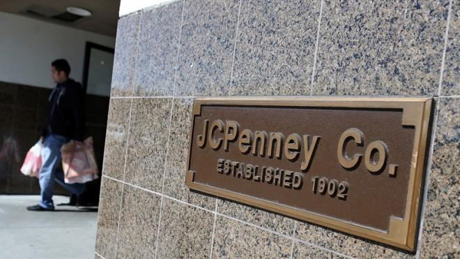 JC Penney stock has halved in value over the last year or so.
