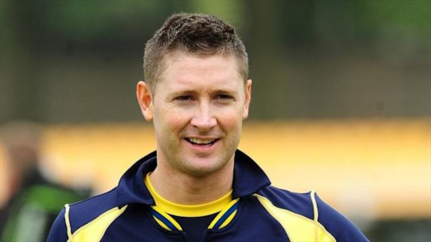 Michael Clarke played no part in the Champions Trophy
