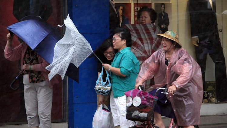 Typhoon hits eastern China with strong winds, rain