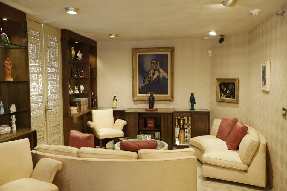 The Living Room is on display at the Louis Armstrong House Museum Wednesday, Oct. 9, 2013, in the Queens borough of New York. (AP Photo/Frank Franklin II)