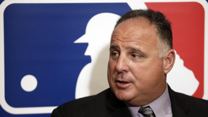 Los Angeles Angels manager Mike Scioscia answers questions during a news conference at the baseball winter meetings on Wednesday, Dec. 5, 2012, in Nashville, Tenn. (AP Photo/Mark Humphrey)