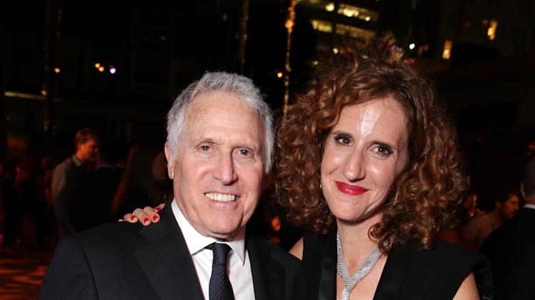 Dan Fellman, President of Domestic Distribution for Warner Bros. Pictures and Author Gayle Forman seen at the Los Angeles World Premiere of New Line Cinema's and Metro-Goldwyn-Mayer Pictures' 'If I Stay' held at TCL Chinese Theatre on Wednesday, August 20, 2014, in Hollywood. (Photo by Eric Charbonneau/Invision for Warner Bros./AP Images)