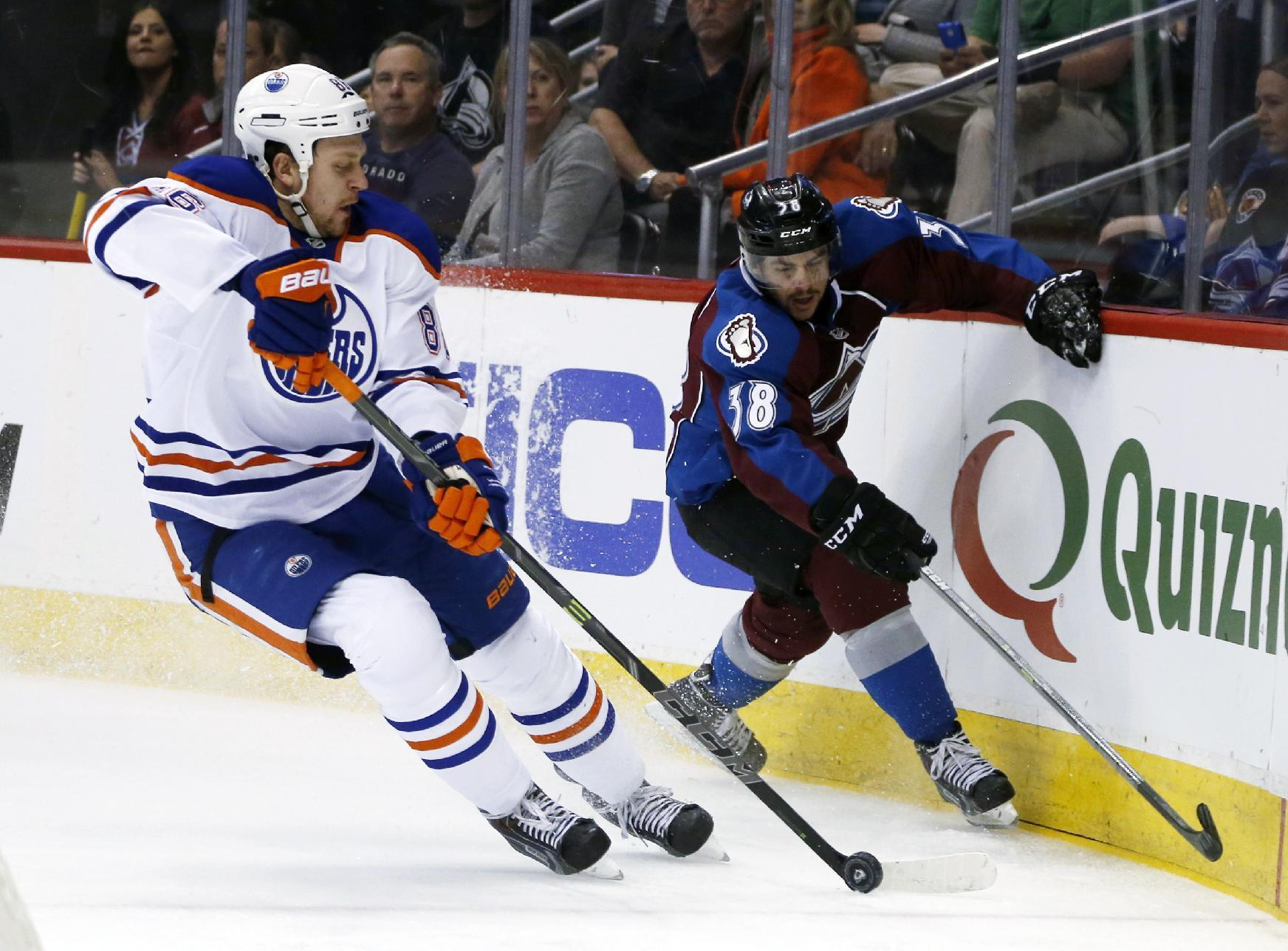Schultz, Bachman help Oilers to 4-1 win over Avs