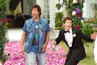 This film image released by Columbia Pictures shows Adam Sandler, left, and Andy Samberg in a scene from &quot;That&#39;s My Boy.&quot; (AP Photo/Columbia Pictures - Sony, Tracy Bennett)