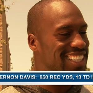 San Francisco 49ers tight end Vernon Davis plenty of balls to go around