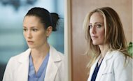 Chyler Leigh and Kim Raver as seen on &#39;Grey&#39;s Anatomy&#39; -- ABC