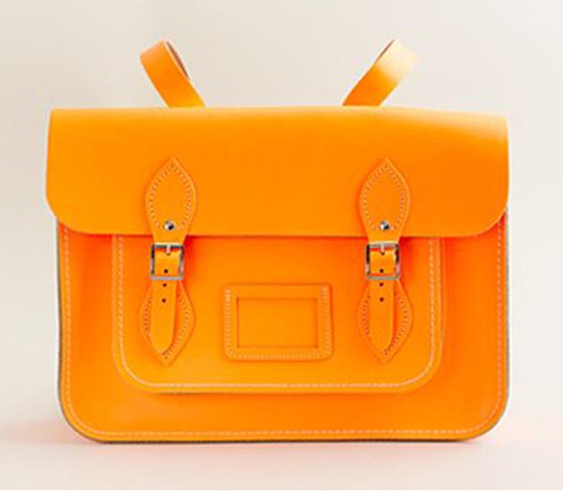 Cambridge Satchel Company Fluorescent Batchel, $170, at J.Crew