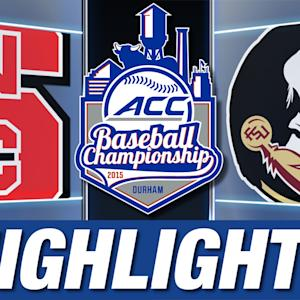 NC State vs Florida State | 2015 ACC Baseball Championship Highlights