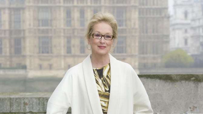 U.S actress Meryl Streep attends a photocall for 'The Iron Lady' at a central London venue Monday, Nov. 14, 2011. (AP Photo/Jonathan Short)