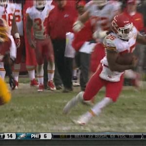 Kansas City Chiefs running back Jamaal Charles 35-yard run