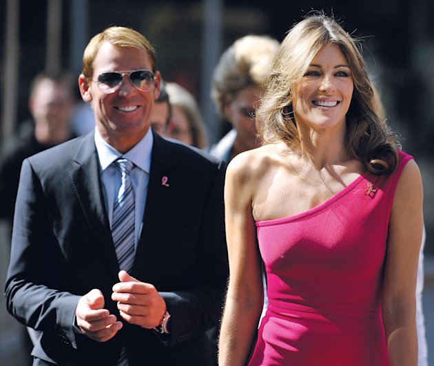 Elizabeth Hurley And Shane Warne In South Africa
