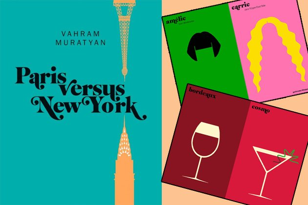 """Paris versus New York"" in Illustrationen (Bilder: PR, parisvsnyc.blogspot.com)"