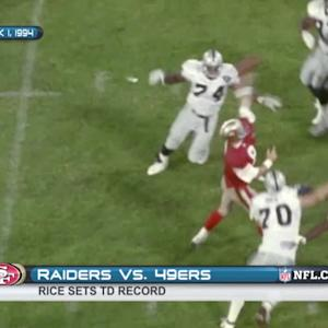 Rice breaks touchdown record
