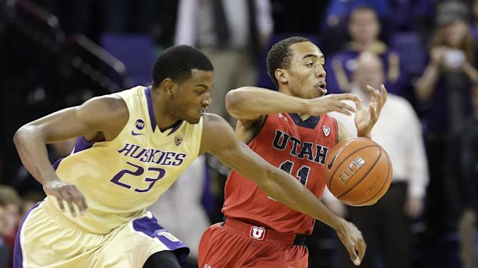 Andrews helps Huskies hold off Utah 59-57
