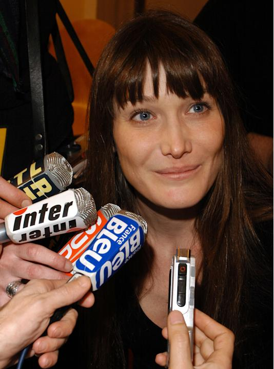 Carla Bruni nel 2004 ai French Music Awards