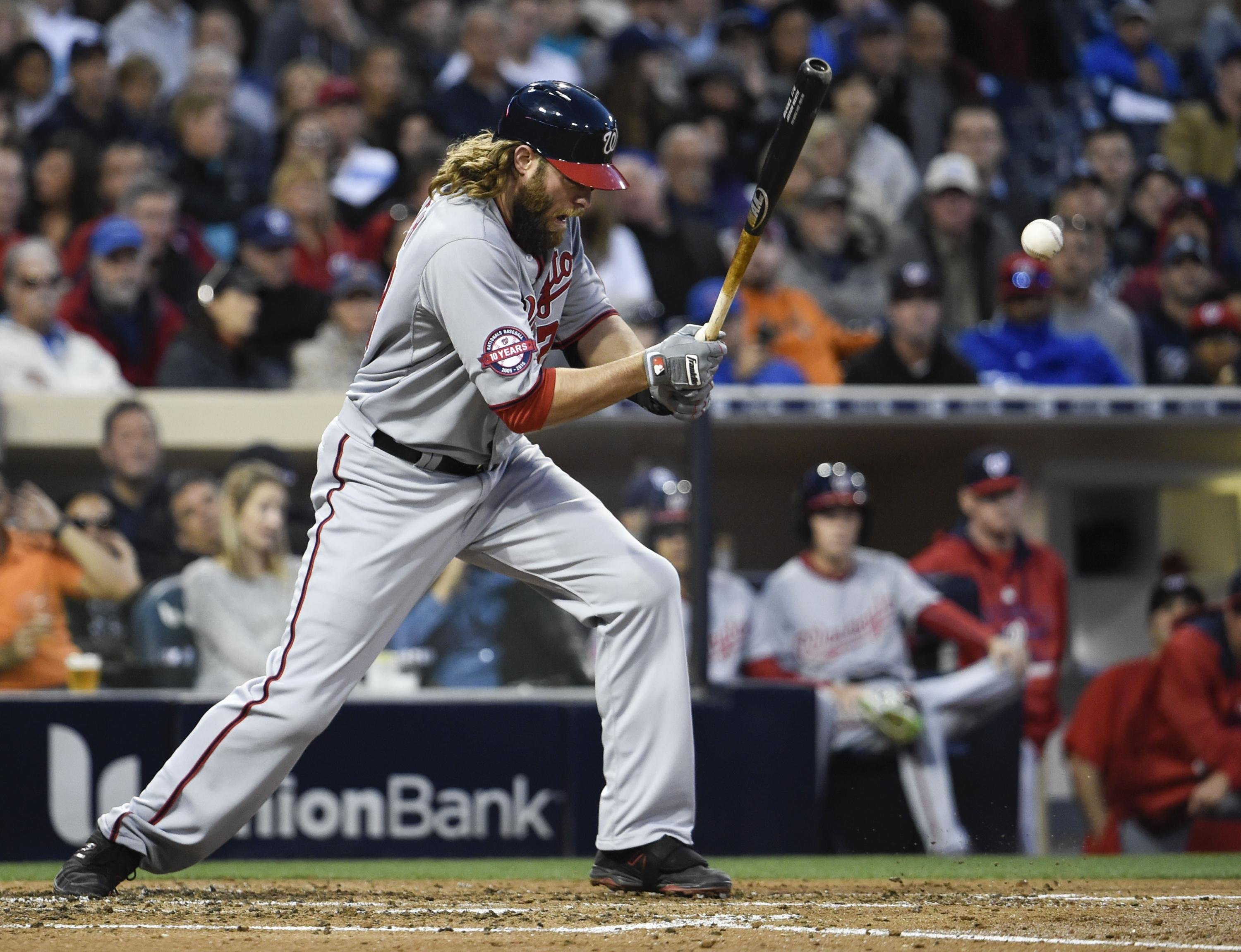 Report: Jayson Werth out until at least August due to wrist fractures