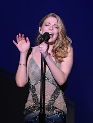 Singer Leann Rimes performs at &quot;Play It Forward: A Celebration of Music&#39;s Evolution and Influencers&quot; at the Grammy Foundation&#39;s 15th Annual Music Preservation Project, Thursday, Feb. 7, 2013, in Los Angeles. (Photo by Vince Bucci/Invision/AP)