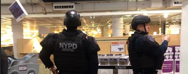 2 shot inside NYC Home Depot