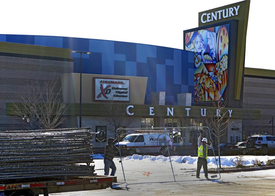Colorado movie theater reopens in somber ceremony