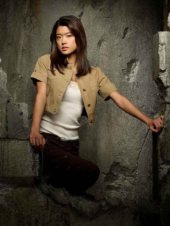 Grace Park as Sharon Valerii in Battlestar Galactica on the Sci Fi Channel.