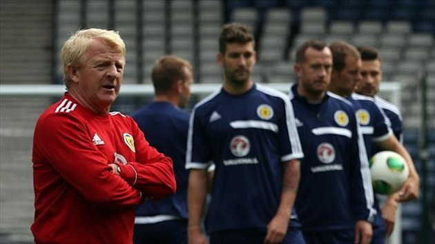 Gordon Strachan, left, has some injury worries to contend with ahead of the Belgium clash