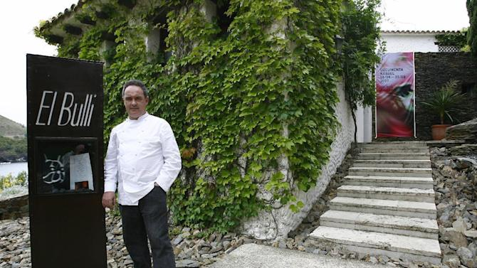 Spanish Chef Ferran Adria posing in front of El Bulli