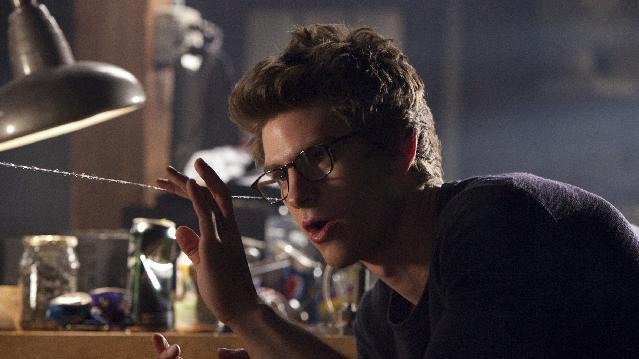 "In this film image released by Sony Pictures, Andrew Garfield portrays Peter Parker and Spider-Man in a scene from ""The Amazing Spider-Man, set for release on July 3, 2012. (AP Photo/Columbia - Sony Pictures, Jaimie Trueblood)"