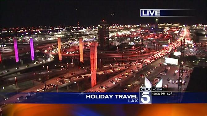Travelers Depart, Arrive at LAX in Droves as Thanksgiving Weekend Comes to a Close