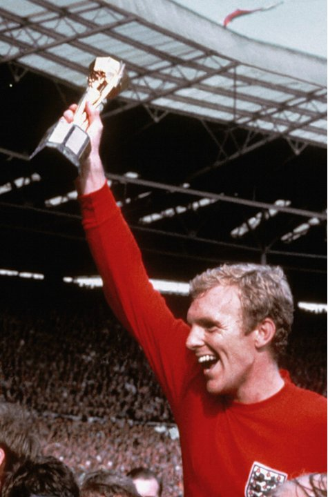 1= - Bobby Moore (90 caps) - Pictured 1966