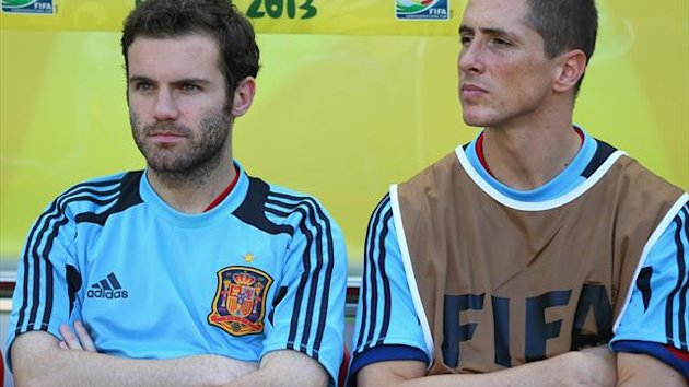 Juan Mata and Fernando Torres Getty Image