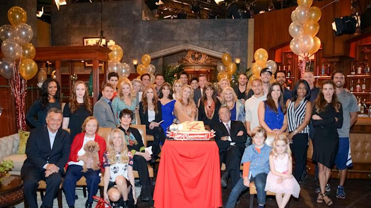 "The cast of ""The Young and the Restless"" poses for a photo at ""The Young and the Restless"" 41st Anniversary, on Tuesday, March 25, 2014, in Los Angeles. (Photo by Tonya Wise/Invision/AP)"
