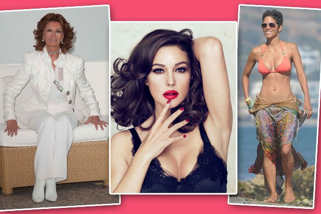 Sexsymbole ohne Verfallsdatum: Sophia Loren (78), Monica Bellucci (47), Halle Berry (46) (Bilder: ddp images, wenn)