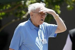 Warren Buffet leaves the first session of the annual Allen and Co. conference at the Sun Valley