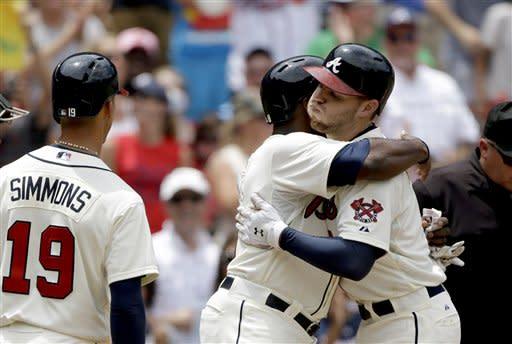 Braves homer 3 times, beat D-backs 6-2 for sweep