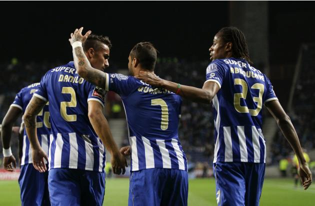 Porto's Quaresma celebrates his goal against Arouca during their Portuguese Premier League soccer match in Porto