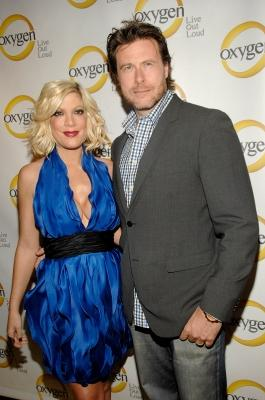 Tori Spelling and Dean McDermott attend Oxygen Media's 2011 upfront presentation at Gotham Hall, NYC, April 4, 2011 -- Getty Images