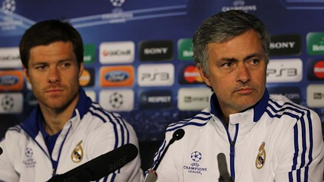 Jose Mourinho and Xabi Alonso (Reuters)
