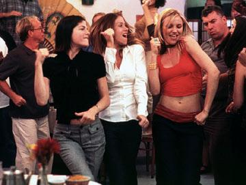 Selma Blair , Christina Applegate and Cameron Diaz in Columbia Pictures' The Sweetest Thing