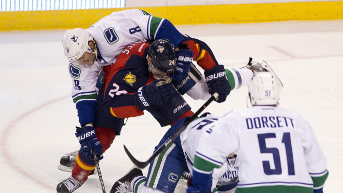 Vrbata, Horvat lift Canucks to 2-1 win over Panthers