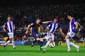 Barcelona 2-1 Valladolid: Barca continues hunt for 100 points