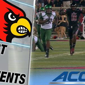 Louisville's Corvin Lamb's Electric 97-Yard Kickoff Return TD | ACC Must See Moment