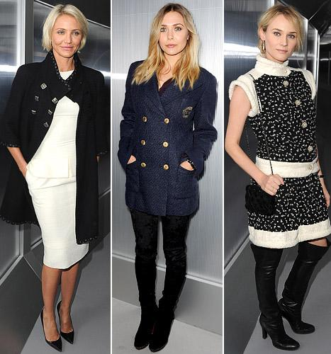 Elizabeth Olsen, Cameron Diaz and Diane Kruger Hit Chanel Couture Show