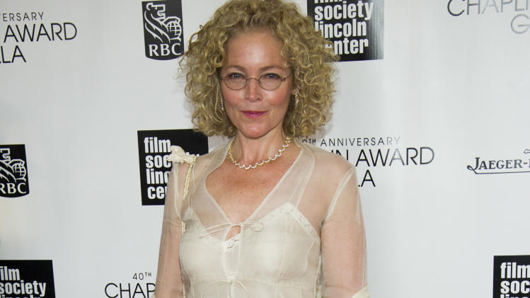 Amy Irving attends the Film Society of Lincoln Center's 40th Annual Chaplin Award Gala honoring Barbra Streisand on Monday, April 22, 2013, in New York. (Photo by Charles Sykes/Invision/AP)