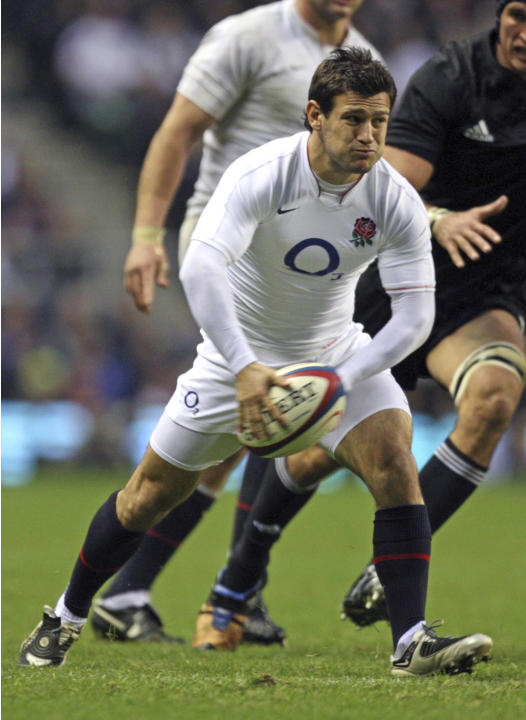 FILE  In this Saturday, Nov. 21, 2009 file photo England's Danny Care gets the ball away during their international rugby union match against New Zealand at Twickenham stadium, London. England's attem