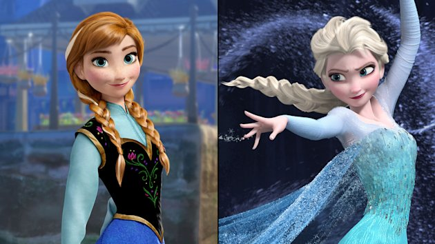 Princesses Anna and Elsa in Disney's
